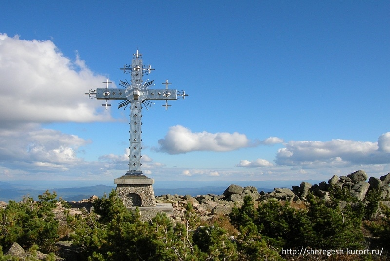 Поклонный крест в Шерегеше