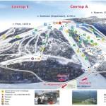 Схема трасс горы Зеленая